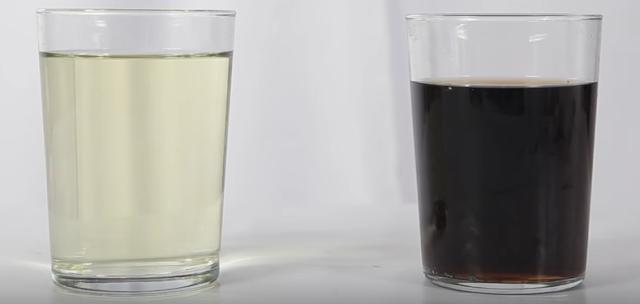 mezcla, coca cola, lejia, antes, despues