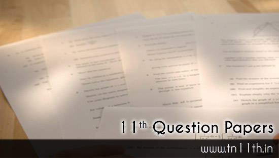 Tamilnadu 11th Model Question Paper Free Plus One Question Papers Download PDF Online