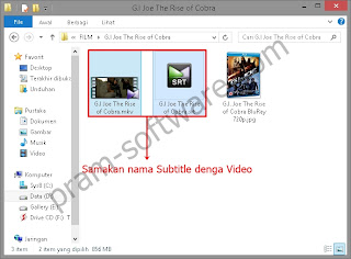 Cara load subtitle step 3