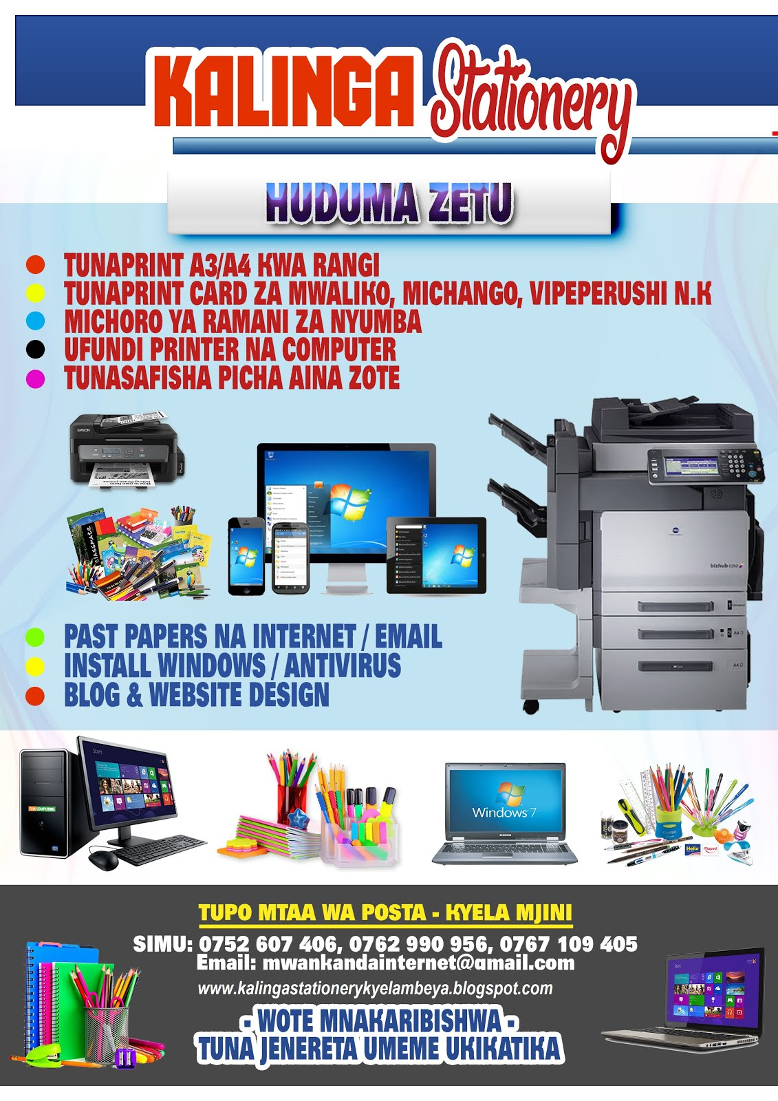 Kalinga Stationery Kyela Mbeya 0752607406 Epson L1300 Printer