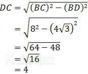 Rumus Pythagoras untuk menentukan nilai DC
