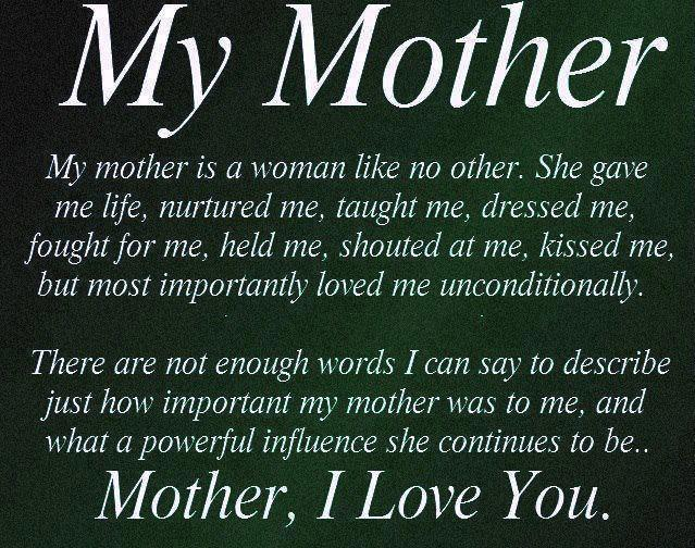 Mom Quotes: Life Inspiration Quotes: Loving Mother's Day Inspirational