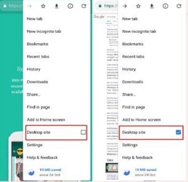 Aktifkan Dekstop Mode di Android