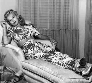 Carole Landis Relaxing