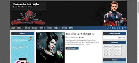 Comando Torrents Template Blogger