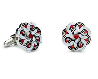Designer Cuff Links Sterling Silver and Gemstones