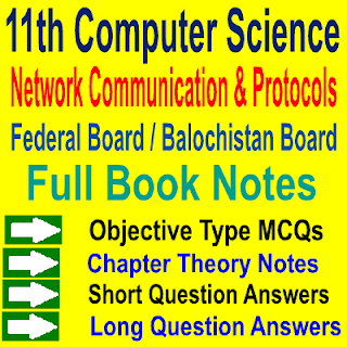 Federal Board and Balochistan Board Computer Science Inter Part First Notes