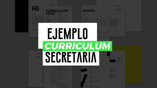 Muestra de currículum de secretaria
