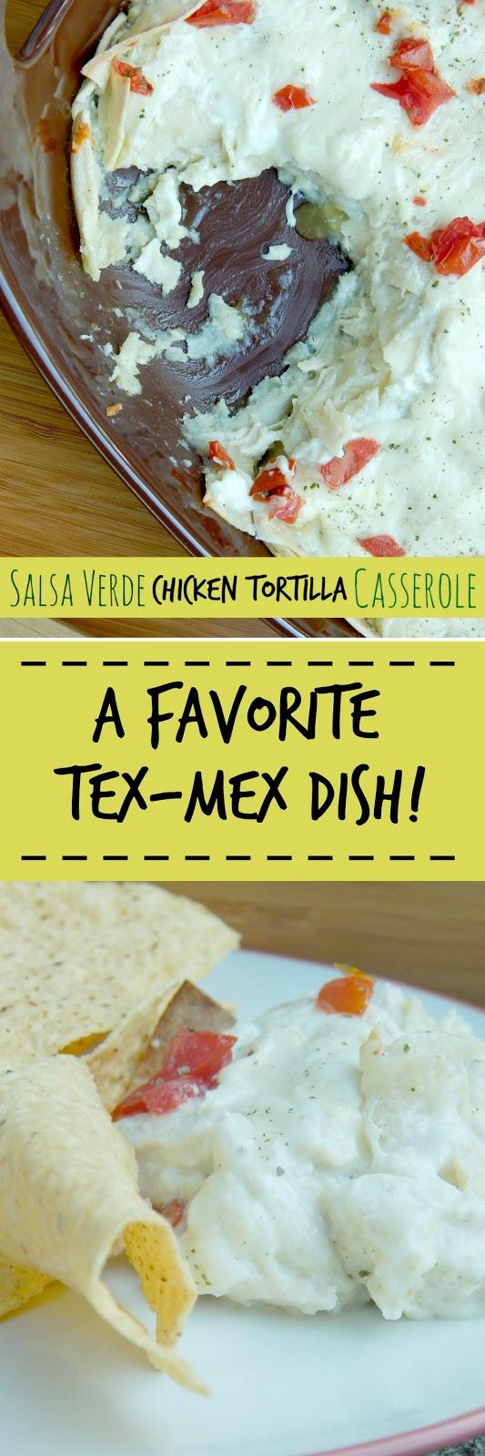 salsa verde chicken tortilla casserole (sweetandsavoryfood.com)