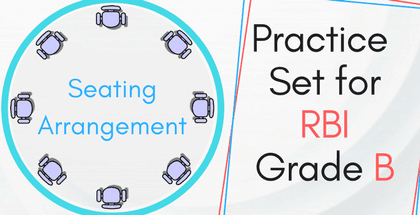 Seating Arrangement Practice Set for RBI Grade B