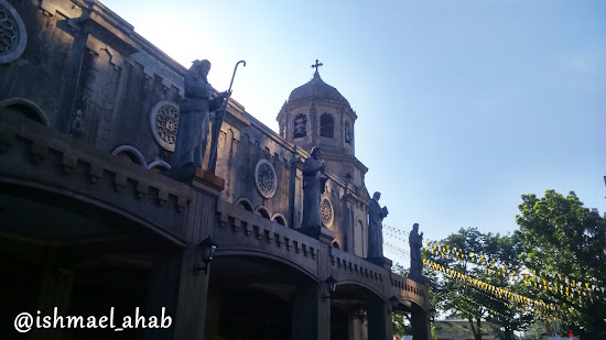 Statues of Jesus' apostles at Our Lady of the Abandoned Church in Marikina CIty