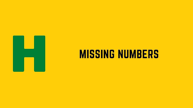 HackerRank Missing Numbers problem solution