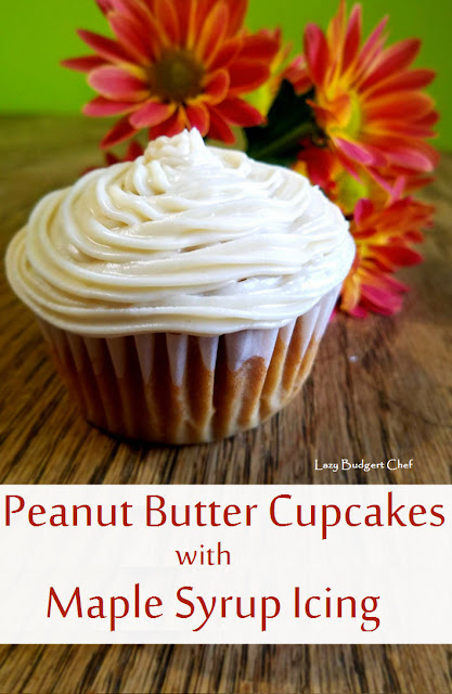 peanut butter cupcake real maple syrup icing recipes