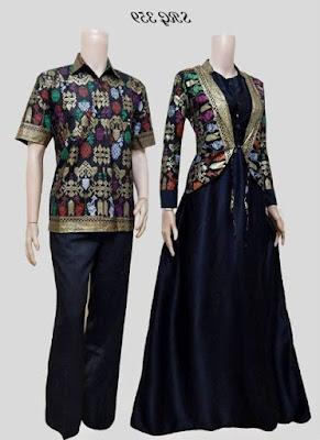 Model baju batik muslim couple masa kini