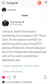 XENOPHOBIA-TIWA SAVAGE SPEAKS OUT
