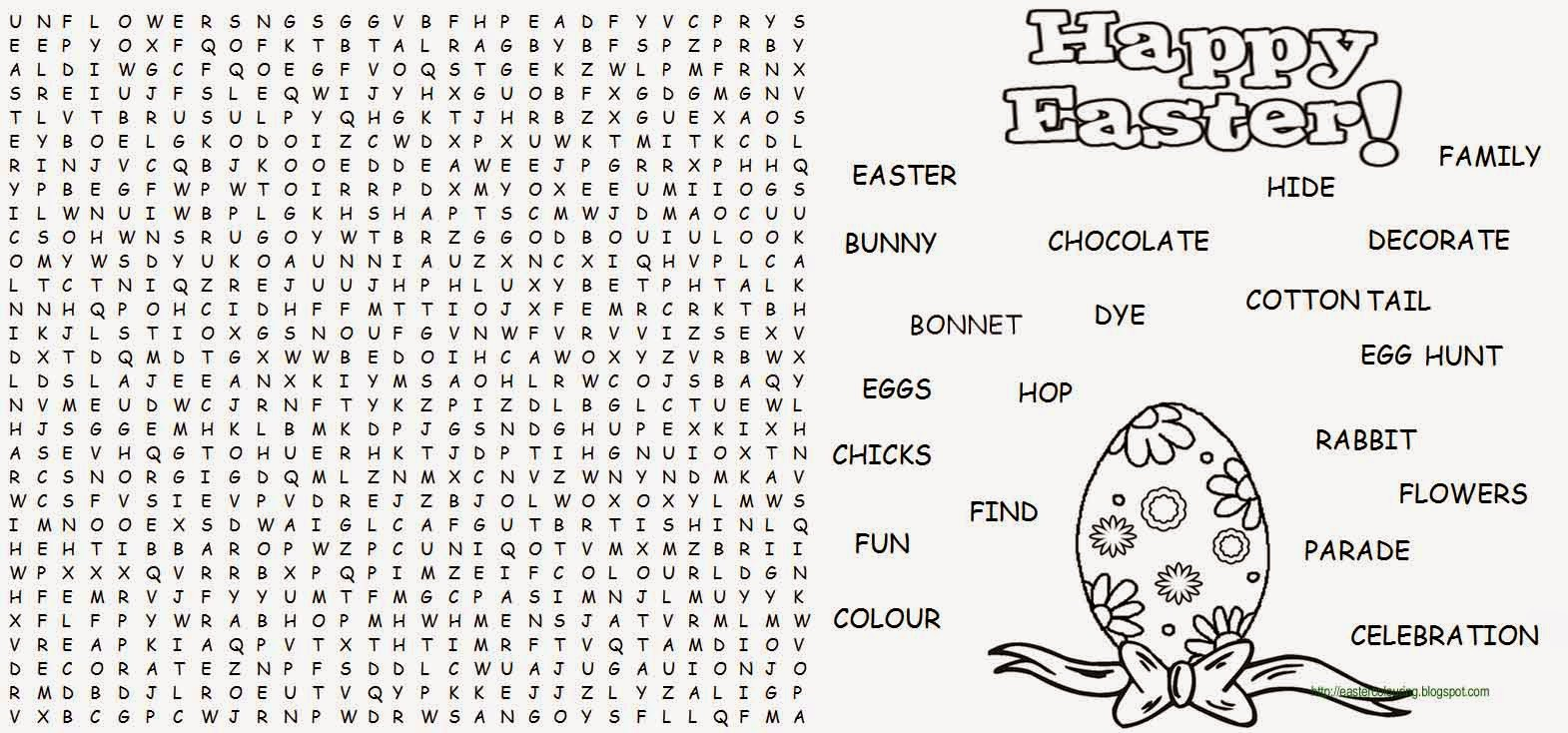 This is a photo of Printable Easter Word Searches inside middle school