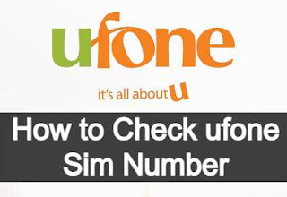 How to check your own Ufone Sim Number