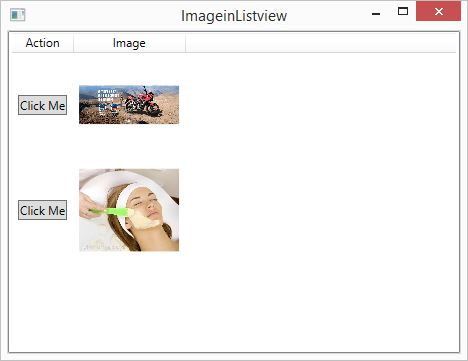WPF: How to take image and button control in WPF ListView