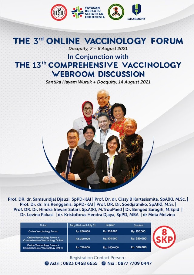 """(8 SKP IDI) """"the 3rd Online Vaccinology Forum""""*_ & _*""""the 13th Comprehensive Vaccinology Webroom Discussion"""""""