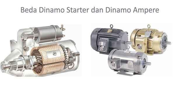 beda dinamo starter dan dinamo ampere pada mobil