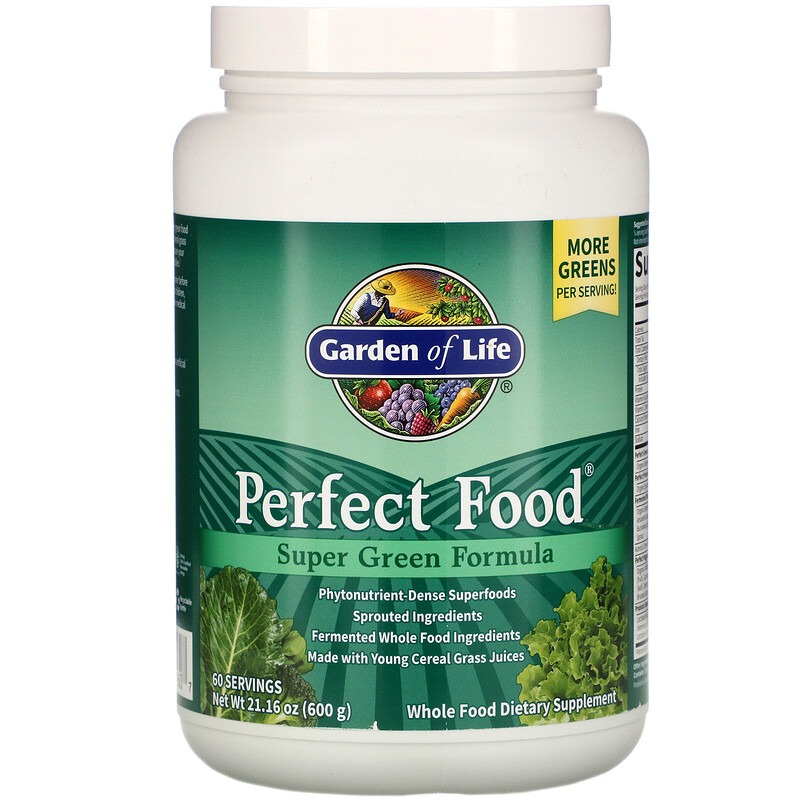 Garden of Life, Perfect Food, Super Green Formula, 600 г (1,3 фунта)