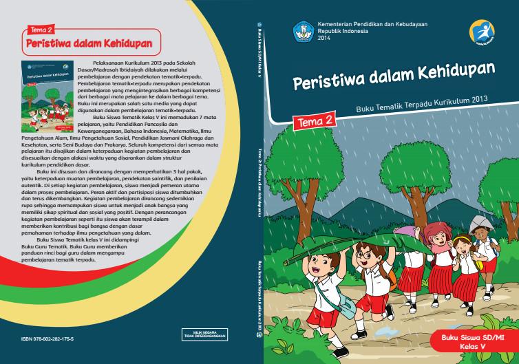 Download Buku Tematik Kurikulum 2013 SD/MI Kelas 5 Tema 2 Peristiwa dalam Kehidupan Edisi Revisi Format PDF