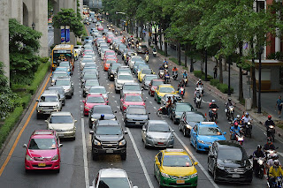 Traffic jam in all over the world