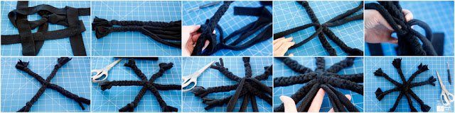 Step-by-step how to make a DIY Halloween spider dog toy