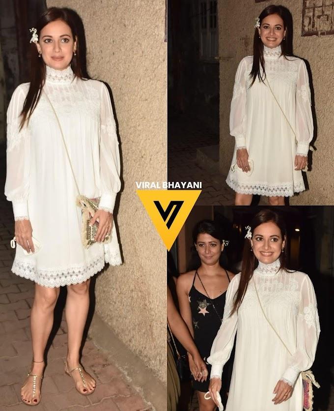 व्हाइट ड्रेस में बेहद खूबसूरत लग रही हैं दीया मिर्जा, देखिए Photos