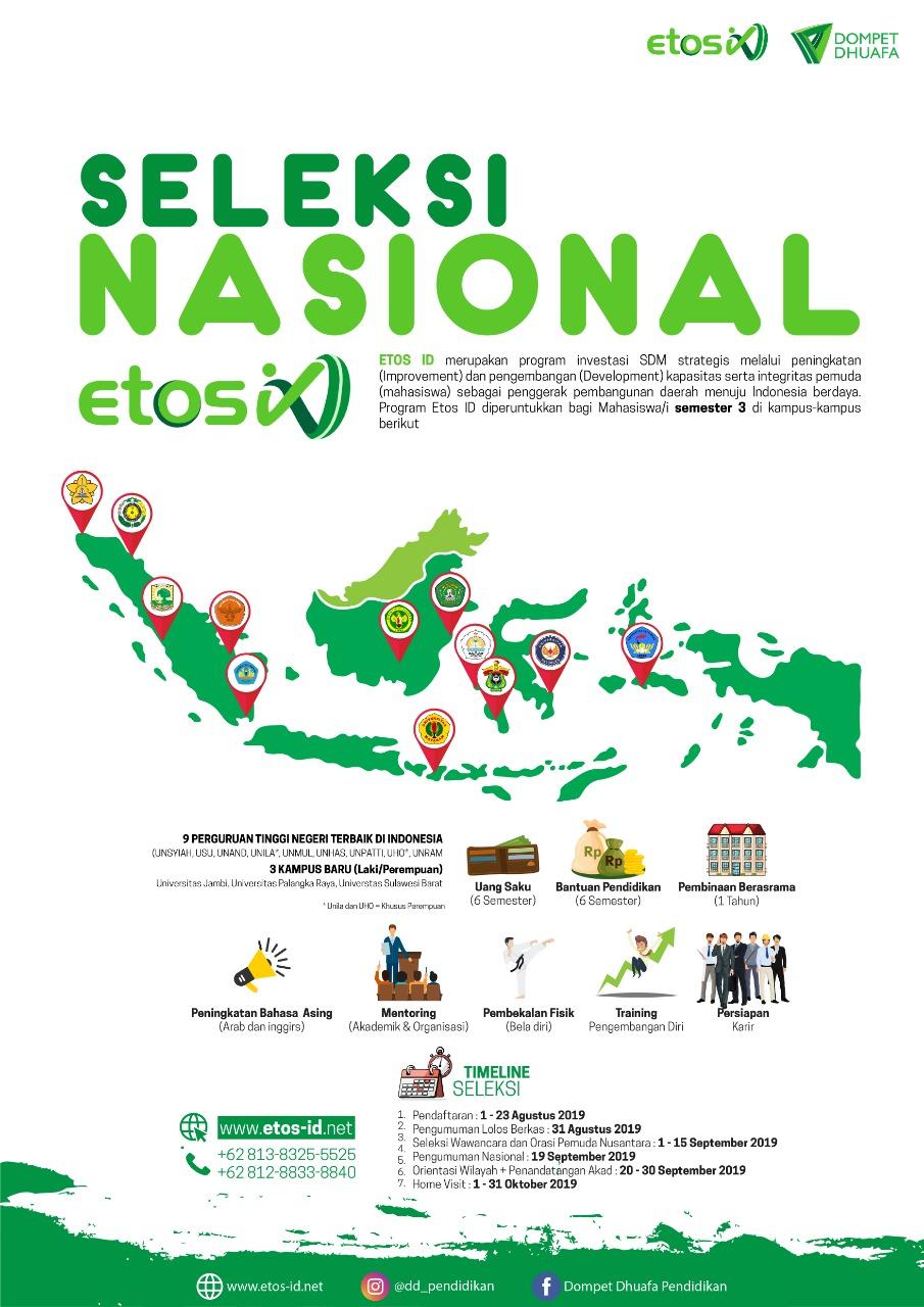 Seleksi Nasional Beastudi Etos Dompet Dhuafa 2019 border=