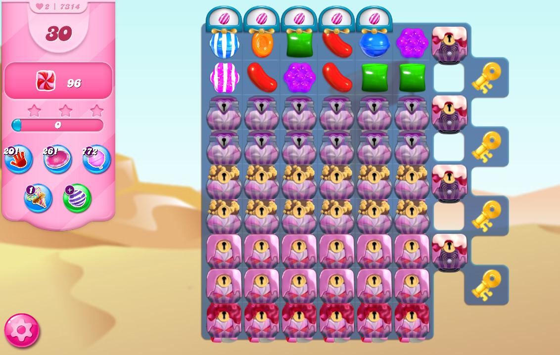 Candy Crush Saga level 7314