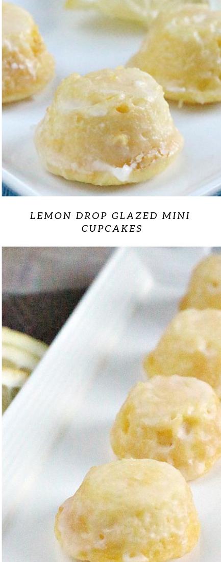 LEMON DROP GLAZED MINI CUPCAKES #Minicake