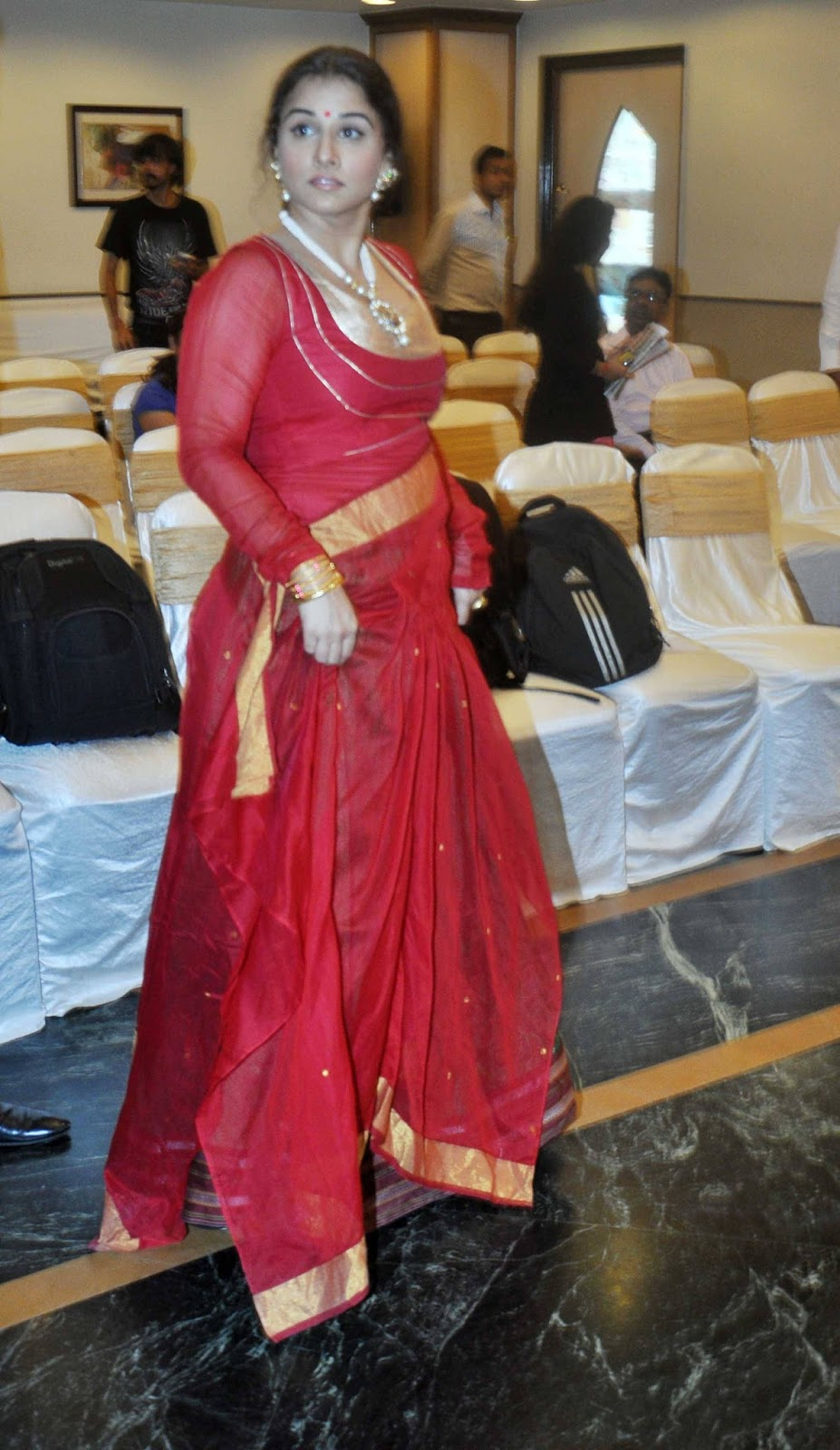 Vidya Balan Unseen Photos In Red Dress