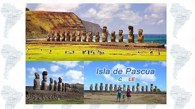 sitios turisticos de Sudamerica: Isla de Pascua,Chile