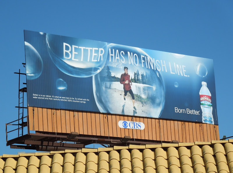 Better has no finish line Arrowhead water billboard