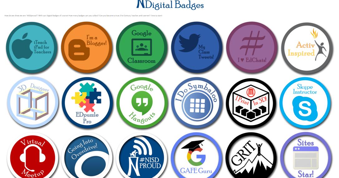 iWonder84: K-5: NISD Digital Badges!