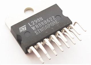 Skema rangkaian driver motor L298