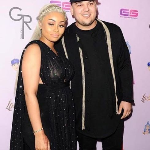 Pregnant Blac Chyna and Rob kardashian
