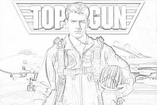Top Gun starring Tom Cruise coloring.filminspector.com