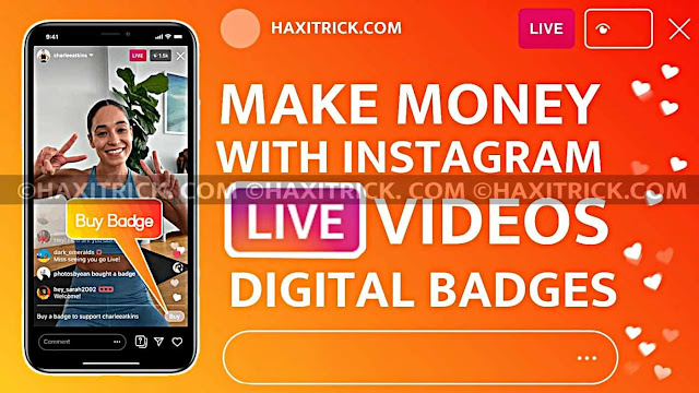Make Money With Instagram Live Video Using Digital Heart Badge Hindi