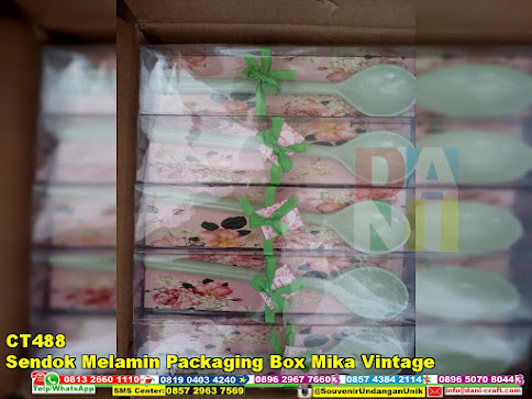 jual Sendok Melamin Packaging Box Mika Vintage