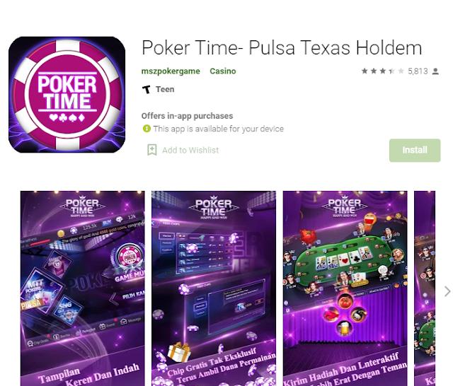 Game Poker Penghasil Pulsa Poker Time