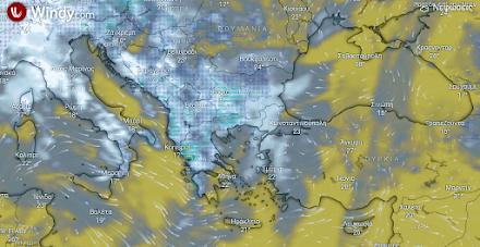 Τοπικές βροχές και σποραδικές καταιγίδες αύριο στα βορειοανατολικά τμήματα της χώρας