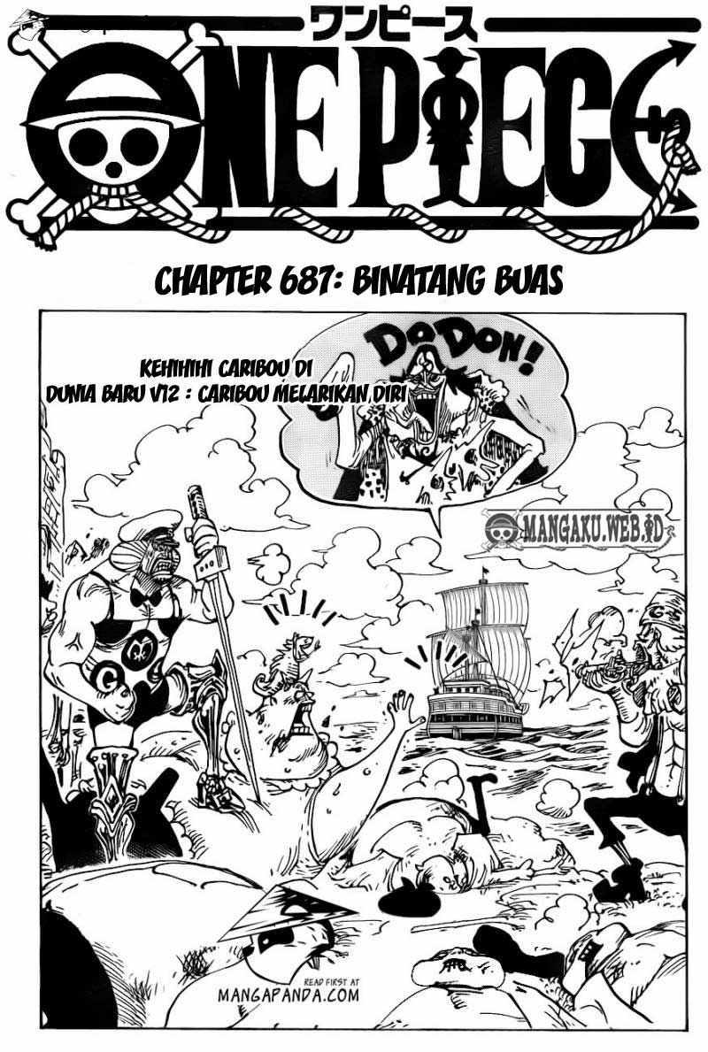 02 One Piece 687   Binatang Buas