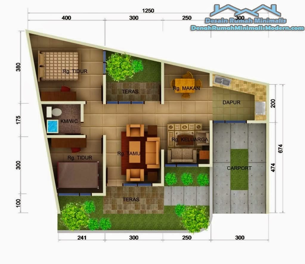 3 Contoh Denah Rumah Minimalis Modern Terbaru: 60 Desain Rumah Minimalis Beserta Denahnya