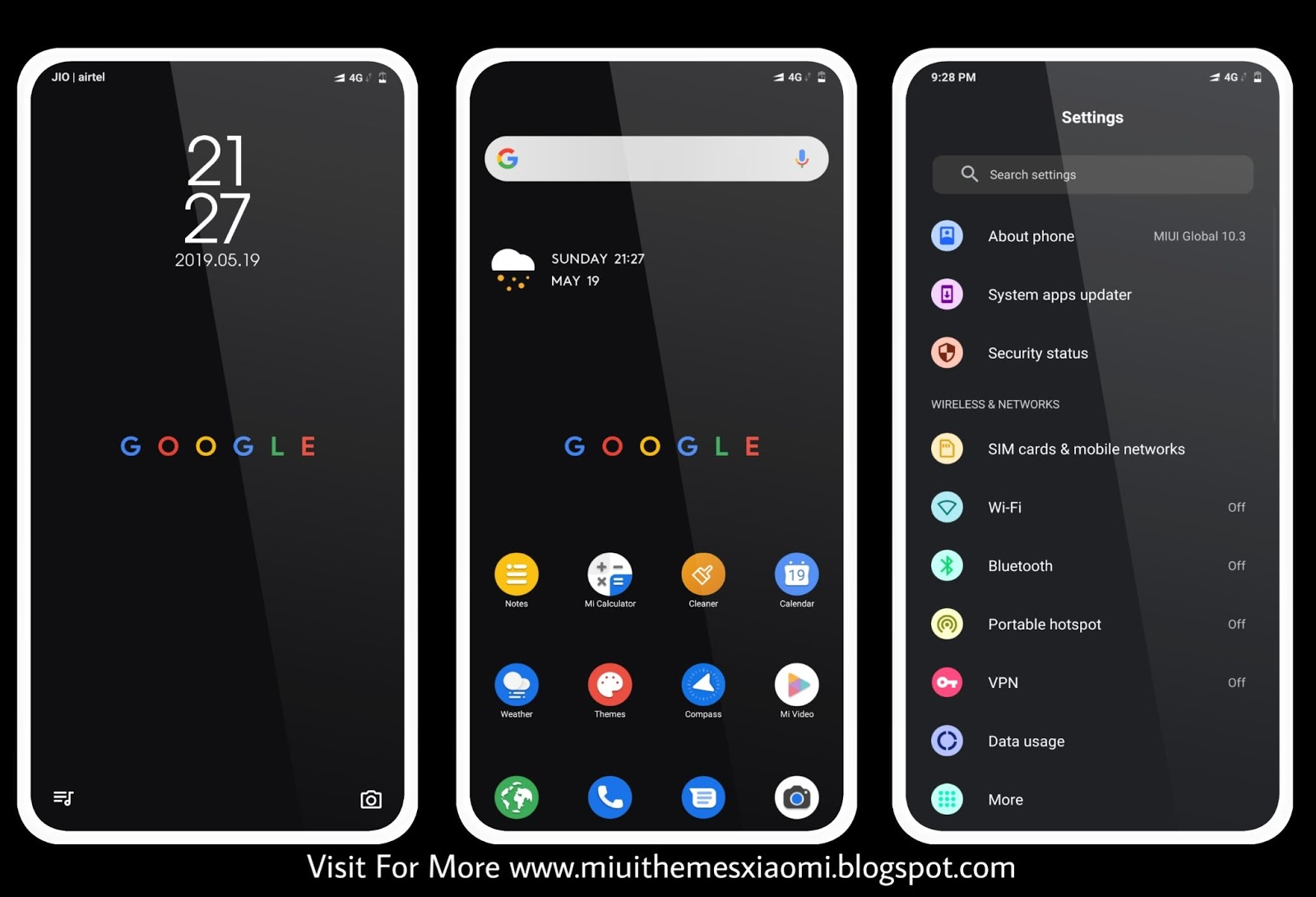 Google Pixel Pie MIUI Theme Download For Xiaomi Mobile