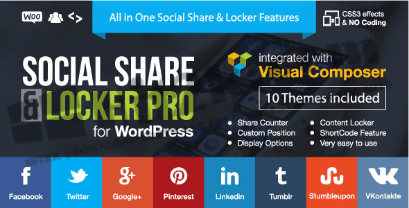 Social & Share locker Pro v7.3 Word press Plugin Download