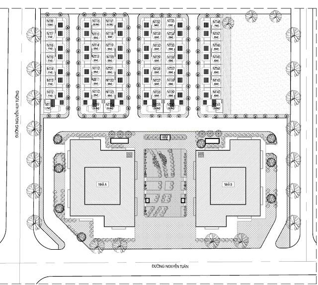 Mặt bằng tổng thể toàn khu dự án Thống Nhất Complex