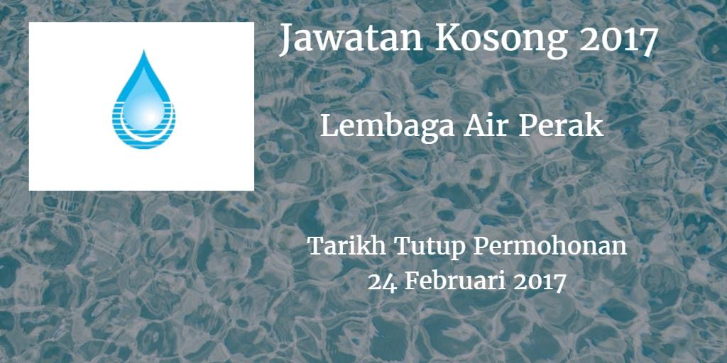 Jawatan Kosong Lembaga Air Perak 24 Februari 2017