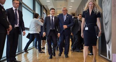 Зеленский встретился в Брюсселе с руководством ЕС и НАТО